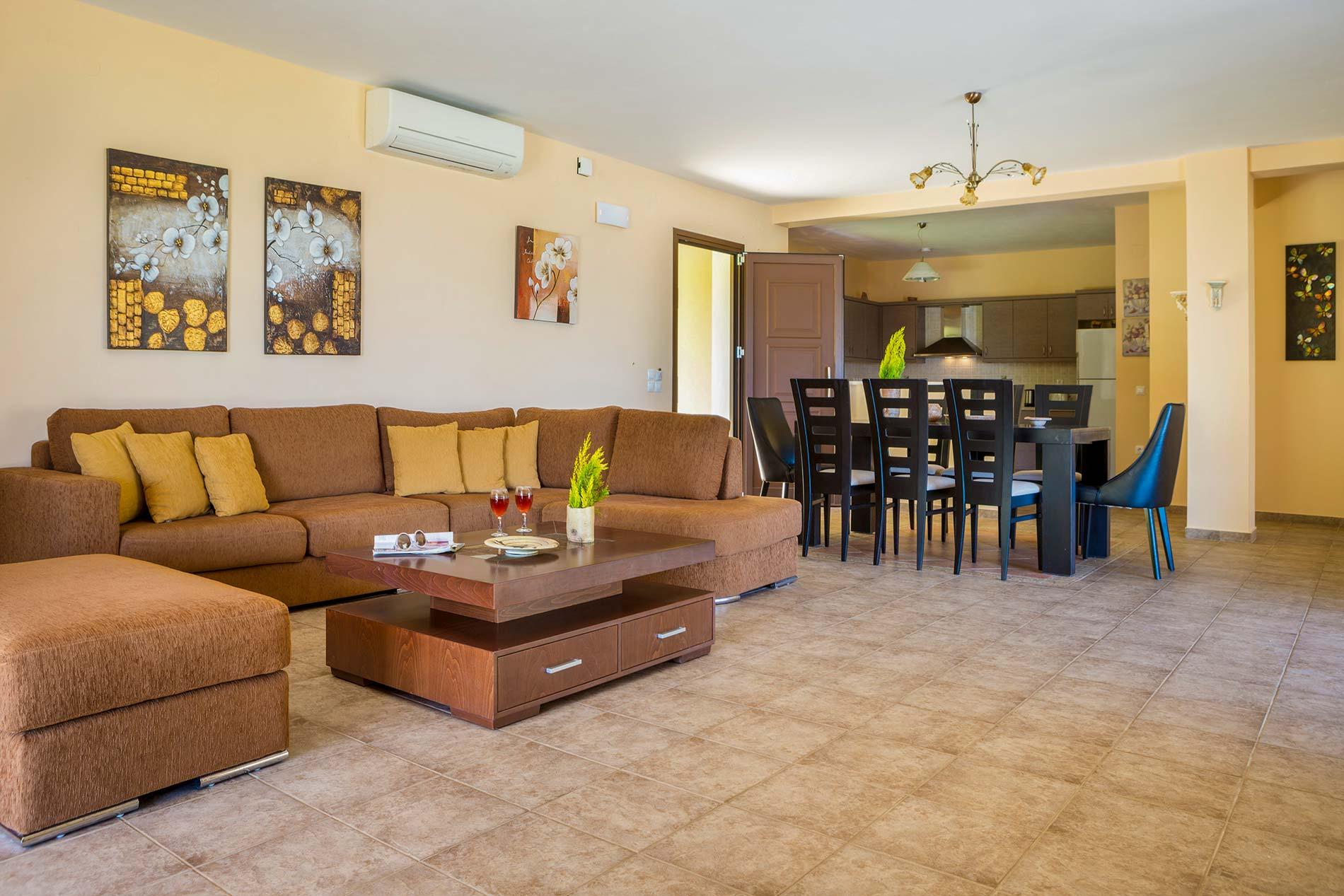Villa Alexandros in Spartia - sleeps 8 people