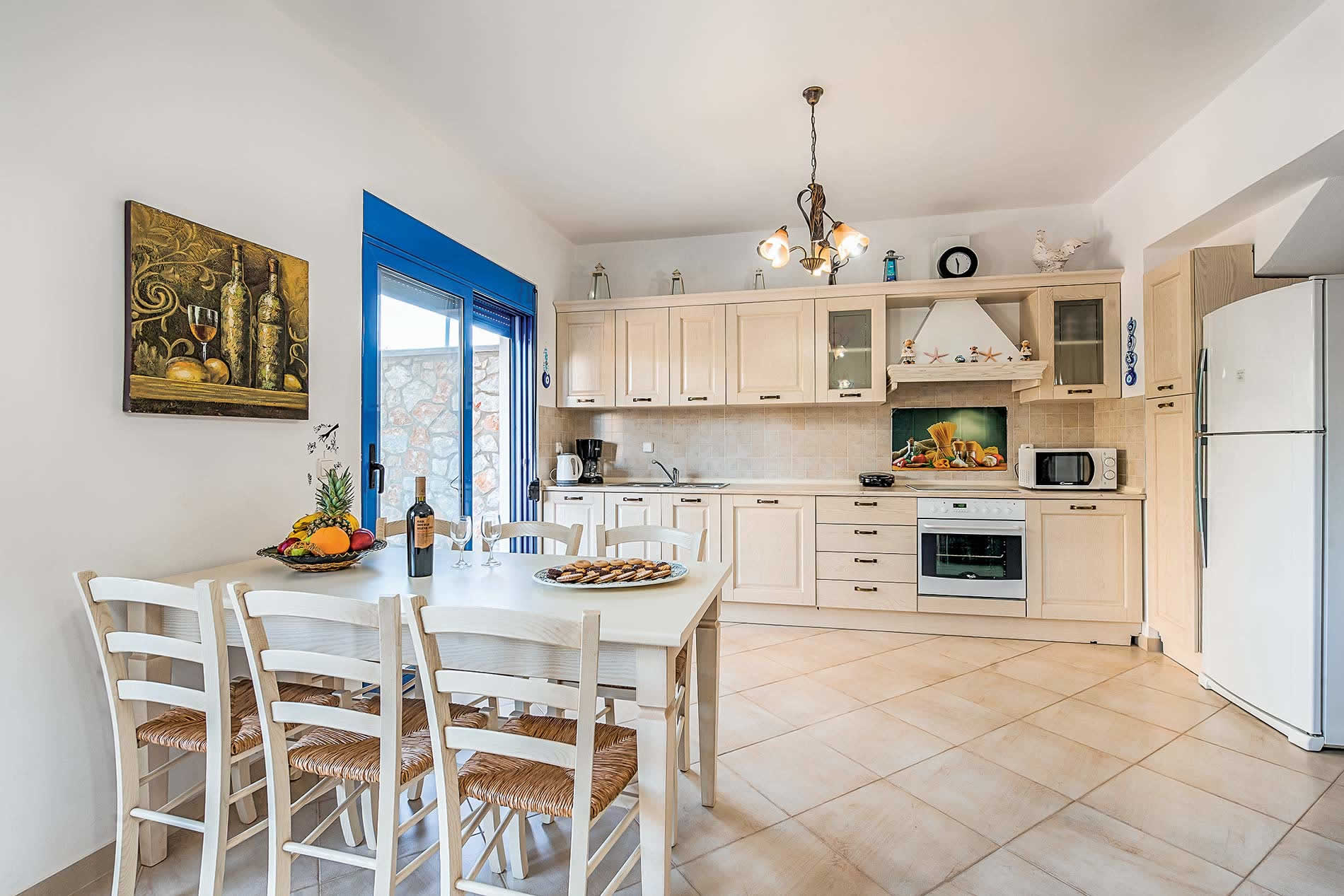 Villa Indigo Blue in Pefkos - sleeps 8 people