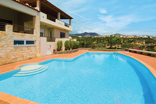Villa Mirabello Bay View in Agios Nikolaos - sleeps 8 people