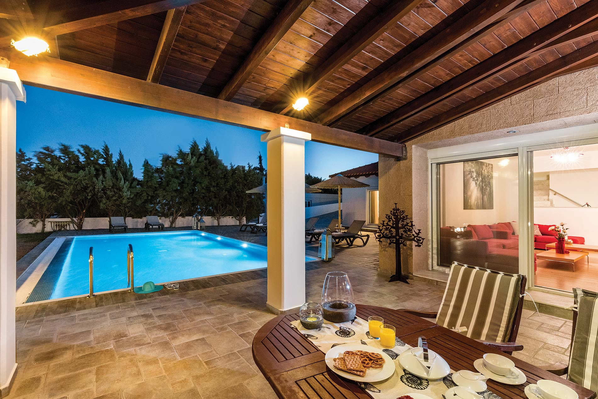 Villa Pelagos Blue ( Gennadi) in Gennadi - sleeps 8 people
